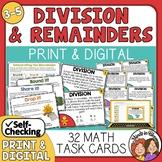 Division Task Cards Interpreting Remainders