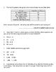 Division Word Problem Test