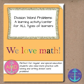 Division Word Problems 1 & 2 Bundle 3rd-4th Regular/Special Ed Common Core