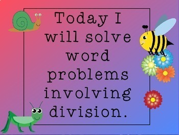 Division Word Problems Power Point