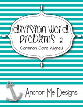 Division Word Problems 2 Activity/Center-3rd-4th Regular/Special Ed