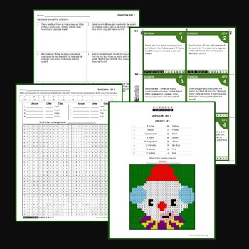 division word problems 4th grade math coloring worksheets mystery pictures. Black Bedroom Furniture Sets. Home Design Ideas