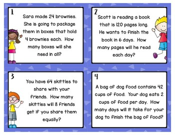 Division Word Problems: Freebie
