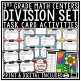 Division Word Problems 3rd Grade Math TEKS Task Cards Cent