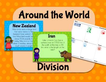 5.NBT.6 (Division Word Problems) Around the World