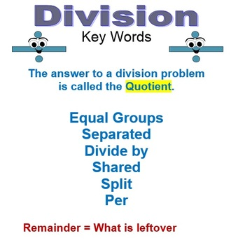 Division Word Problems (BUNDLE)!  8 Word Documents with 36 word problems
