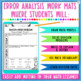 Division Word Problems Task Cards - Error Analysis
