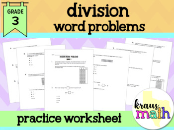Division Word Problems- Grade 3