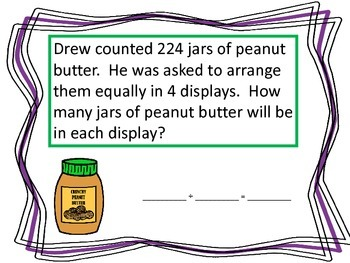 Division Word Problems--Grocery Store Theme