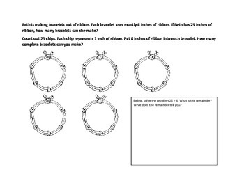 Division Word Problems Guided Worksheet