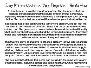 Division Word Problems:  Interpreting Remainders CCSS 4.OA.3, 4.NBT.6