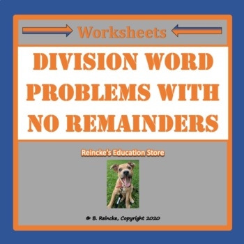 Division Word Problems (No Remainders)