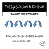 Division Word Problems (Number Lines)
