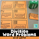 Division Word Problems Roll & Play Dice Game