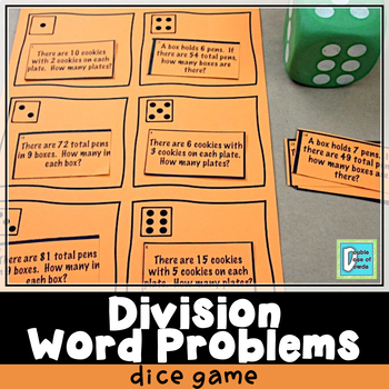 Division Word Problems Roll and Play