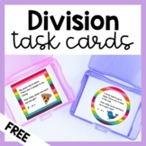 Division Word Problems (Printable Task Cards)