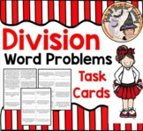 Division Word Problems Task Cards Stations Centers Partners Divide Math Center