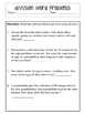 Division Word Problems Worksheet, Homework or Daily Work