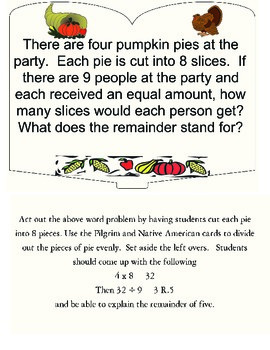 Division Word Problems and Understanding the Remainder