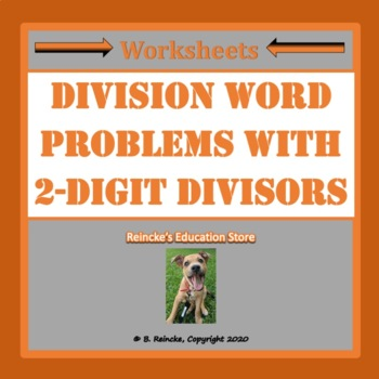 division word problems with 2 digit divisors by reincke 39 s education store. Black Bedroom Furniture Sets. Home Design Ideas