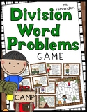 Division Word Problems Game - No Remainders