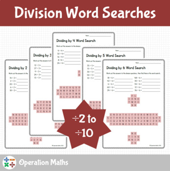 Division Word Searches