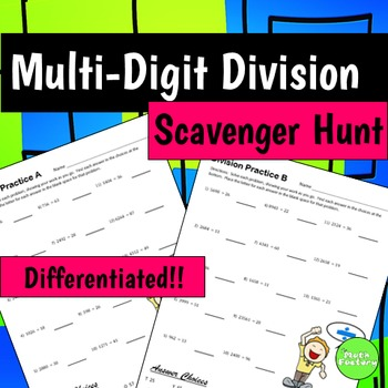 Multi-Digit Division Differentiated Worksheets