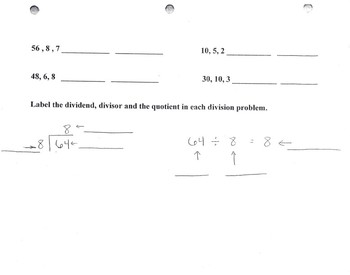 Division Worksheet