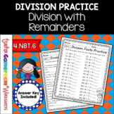 Division with Remainders Worksheet Set