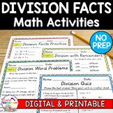 Division with Remainders Worksheet Set