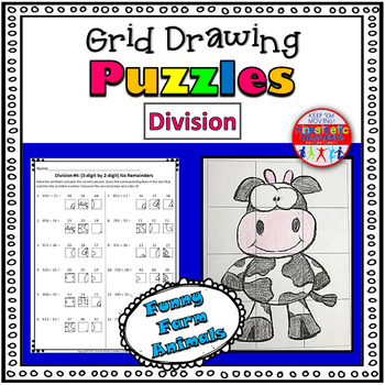 Division Worksheets: Grid Drawing Math Fun! by Kinesthetic Classroom