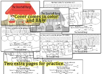 Division and Fraction booklet go along with The Doorbell Rang & 2extension books