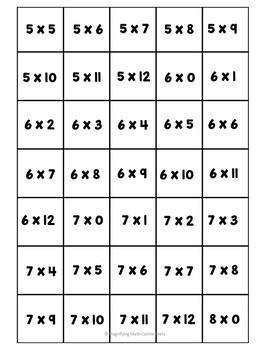 Division and Multiplication BINGO Bundle