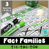 Division and Multiplication Fact Families Tic-Tac-Toe Game
