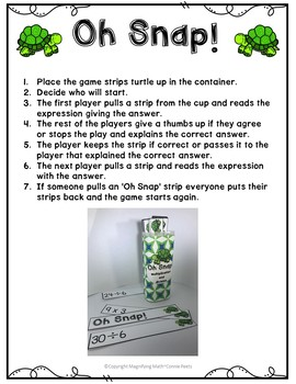 Division and Multiplication Fact Practice Game