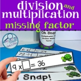Division and Multiplication Missing Factor Fact Practice Game