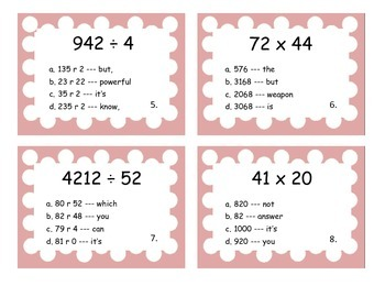 Division and Multiplication Scoot