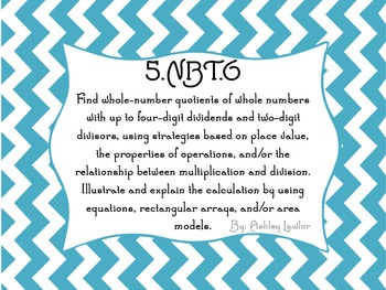 Division and Subtraction Task Cards