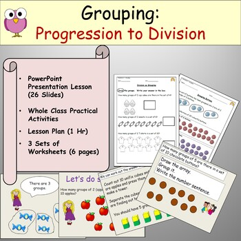 Division Grouping Powerpoint Presentation Worksheets Lesson Plan