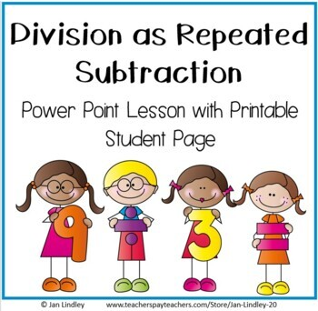 Division As Repeated Subtraction Teaching Resources | Teachers Pay ...