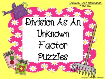 Division as an Unknown Factor Puzzles