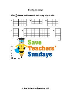 Division as arrays lesson plans, worksheets and more