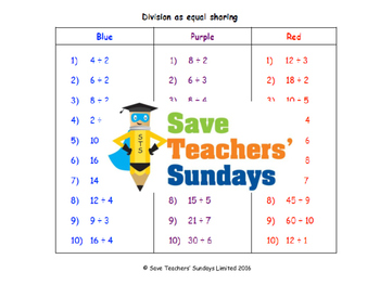 Division as sharing lesson plans, worksheets and more