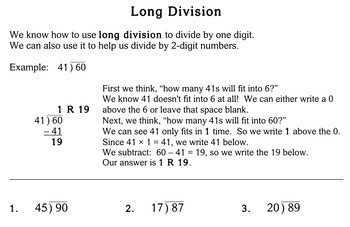 Division by 2-Digit Numbers, 4th grade - Individualized Math - worksheets