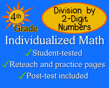 Division by 2-Digit Numbers, 4th grade - Individualized Ma
