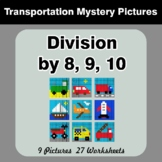 Division by 8 / Division by 9 / Division by 10 - Color By Number