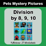 Division by 8 / Division by 9 / Division by 10 - Math Myst