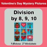 Division by 8 / Division by 9 / Division by 10 - Valentine
