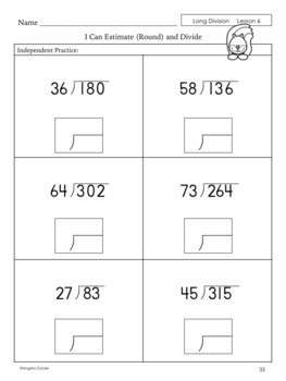 Long Division with Two-Digit Divisors | Special Education Math | Intervention