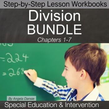 Division Lesson Workbook BUNDLE | Special Education Math | Intervention